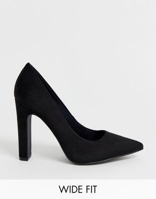 995dd7feacde New Look Wide Fit pointed block heel court in black in 2019 | STYLE ...