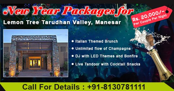 tarudhan Valley resort manesar  New year Celebrration packages Near Delhi Ncr hurry up Book now  #call-08130781111/8826291111