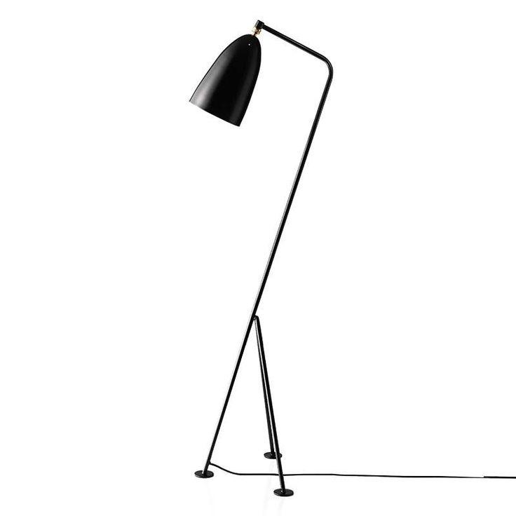 top3 by design - Gubi - grasshopper floor lamp jet black