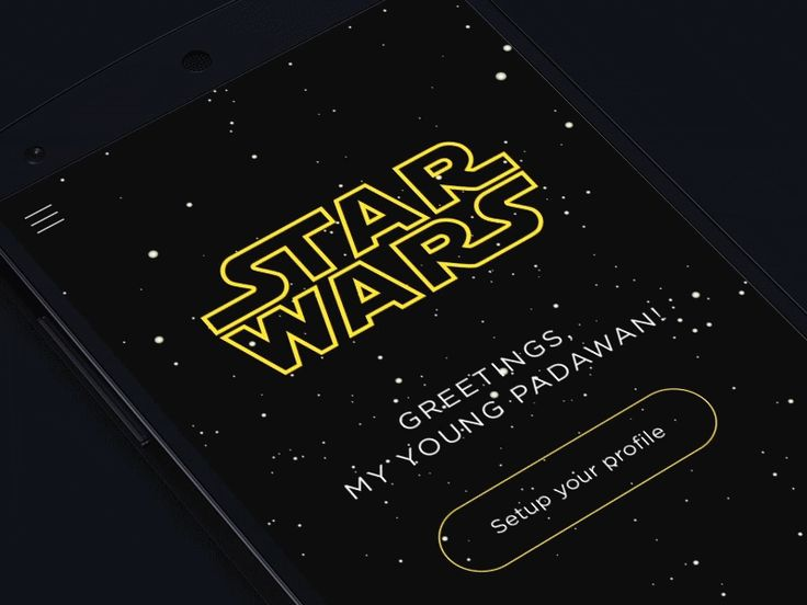 Star Wars App concept by Konstantine Trundayev for Yalantis