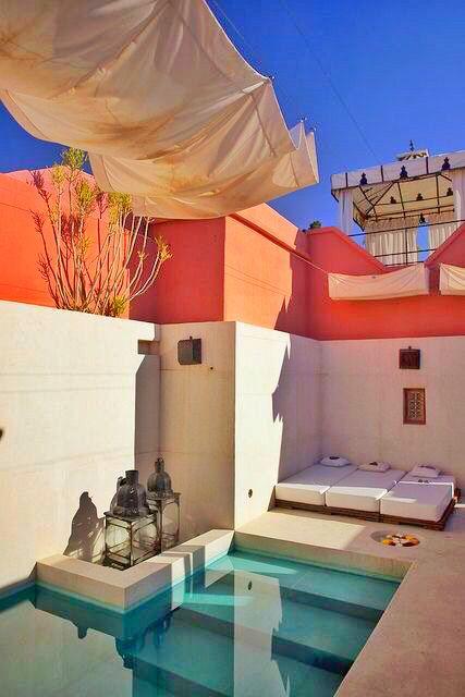Riad Kaïss, Marrakech, again, love how the colours go together.
