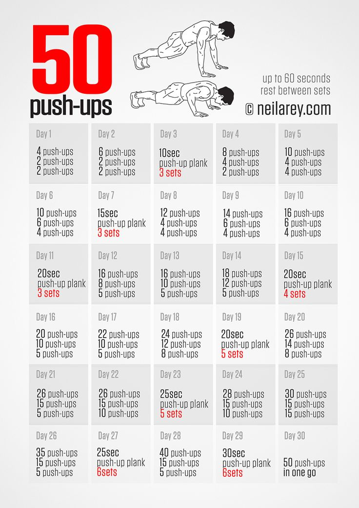 30 Day 50 pushups challenge