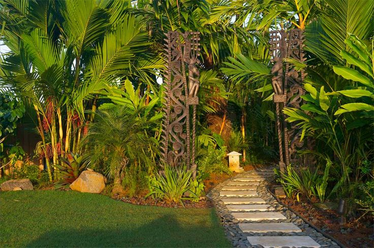 Balinese Garden Ideas | Whinter: Easy to Ideas for landscaping next to house                                                                                                                                                                                 More