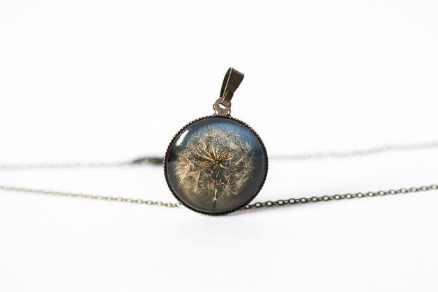 Naszyjnik z dmuchawcem/Dandelion Pendant - Art-Of-Nature