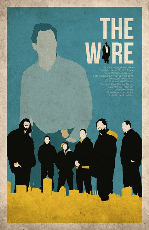 The Wire poster alternative movie poster tv show poster Crime ...
