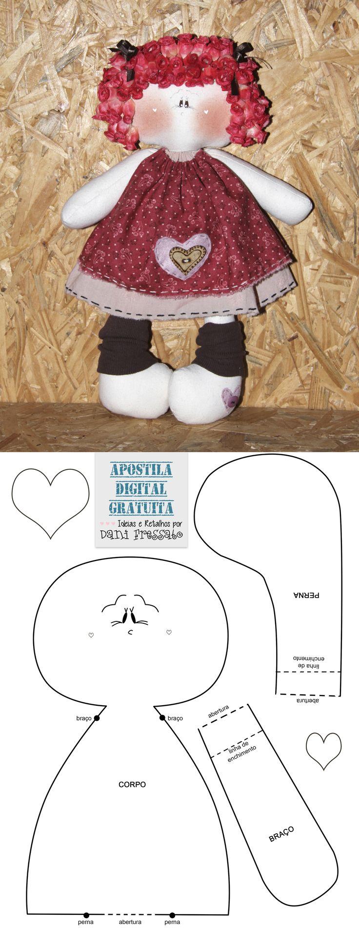 Molde Boneca Rosinha