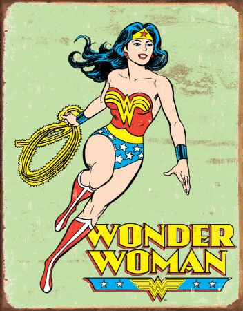 Wonder Woman Retro Poster...I did not know that loving her as a girl would mean I had to be her as a grown up. Lol