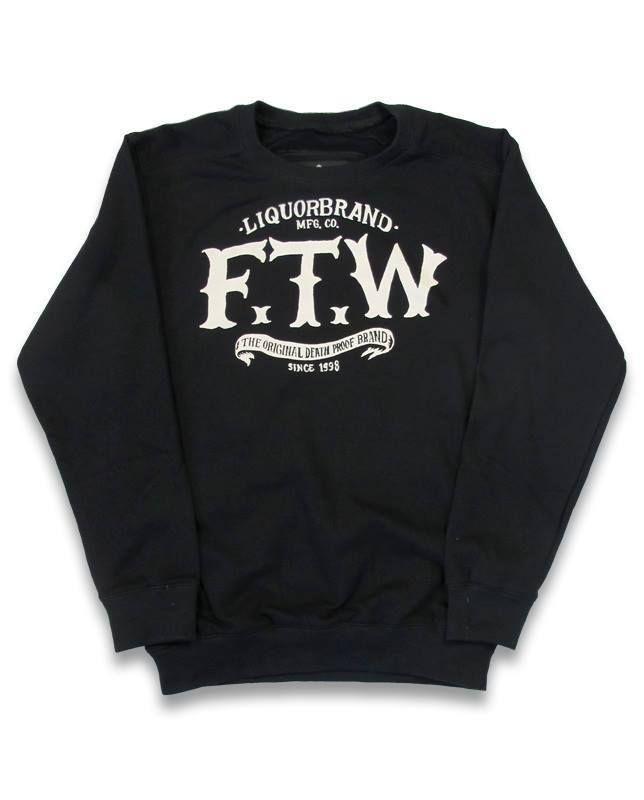 Liquor Brand Herren F.T.W Pullover.Tattoo,Biker,Rockabilly,Custom Clothing Style