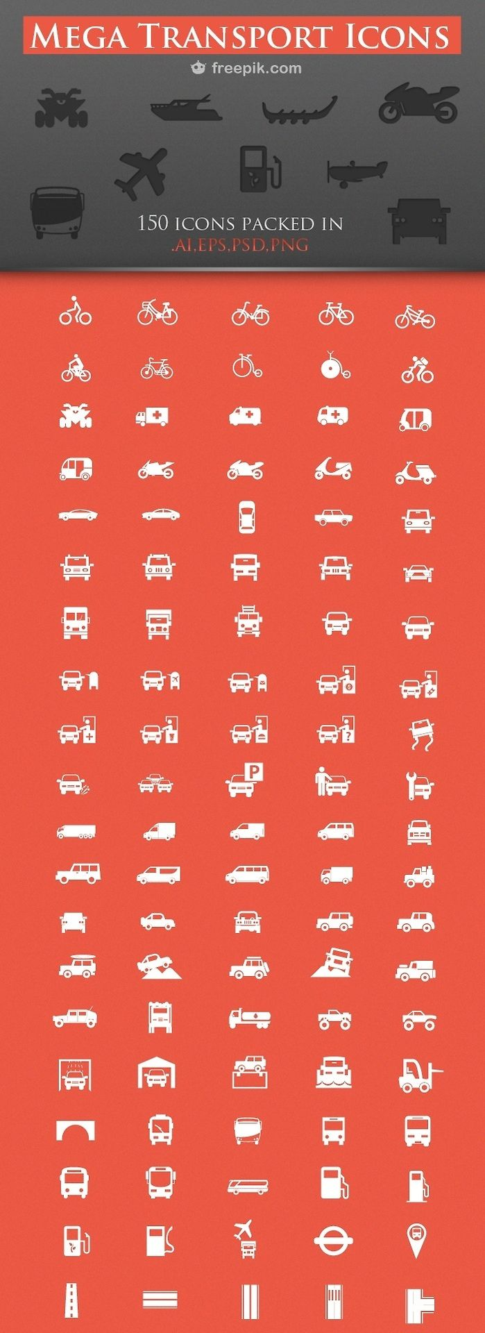150 Free Transport Icons
