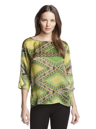 56% OFF Beatrice B Women's Printed Top (Green)