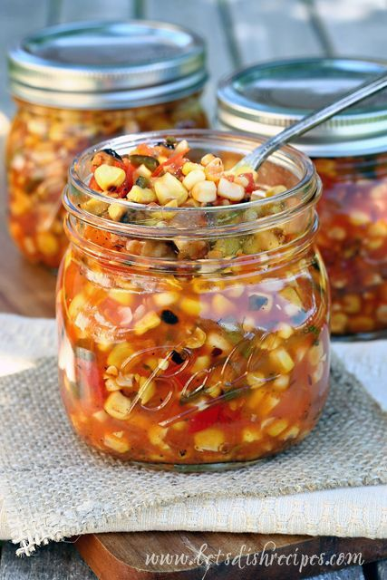 Roasted Corn Salsa - this looks delish but I wouldn't waterbath as suggested - it needs to be pressure canned because of the quantity of low acid corn