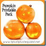 Pumpkin Printable activities for kiddos