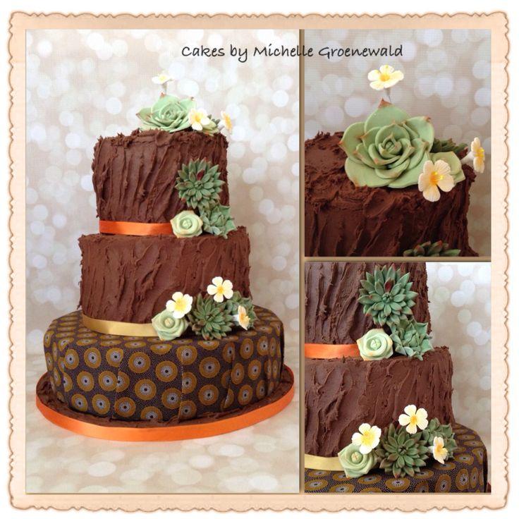 Shweshwe and succulent cake