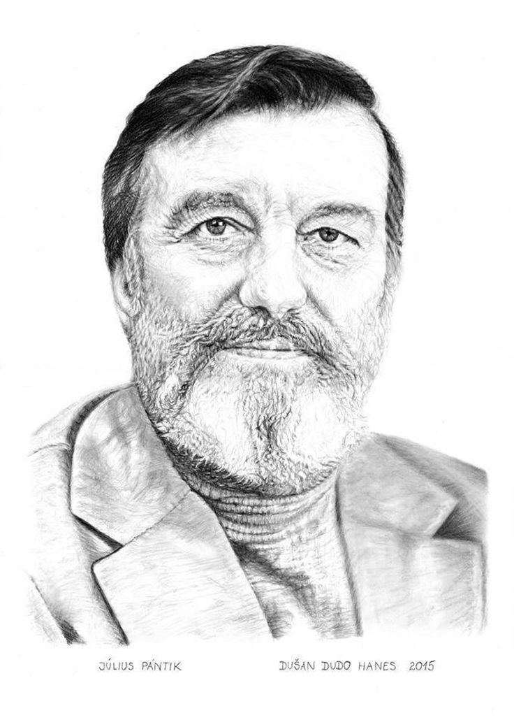 Július Pántik, portrét Dušan Dudo Hanes
