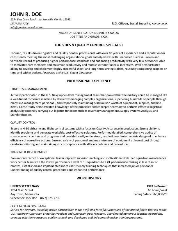 Resume Examples Usa Jobs Examples Resume Resumeexamples Resume