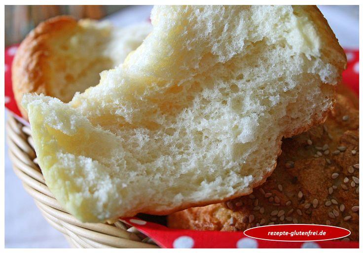 Glutenfreie Fluffy - Brötchen / Burgerbrötchen! Fluffig - weiche Textur! www.rezepte-glutenfrei.de
