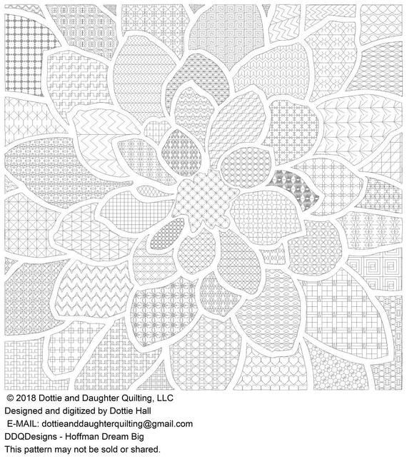 Hoffman Dream Big digital quilting design   Quilting designs