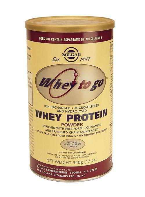 Solgar Vitamins Whey To Go Protein Vanilla (weiproteine) 907 gram poeder - Solgar Whey To Go Prote�n Vanilla bevat wei-eiwit in poedervorm. Wei-eiwit wordt als best opneembare bron van eiwit beschouwd.