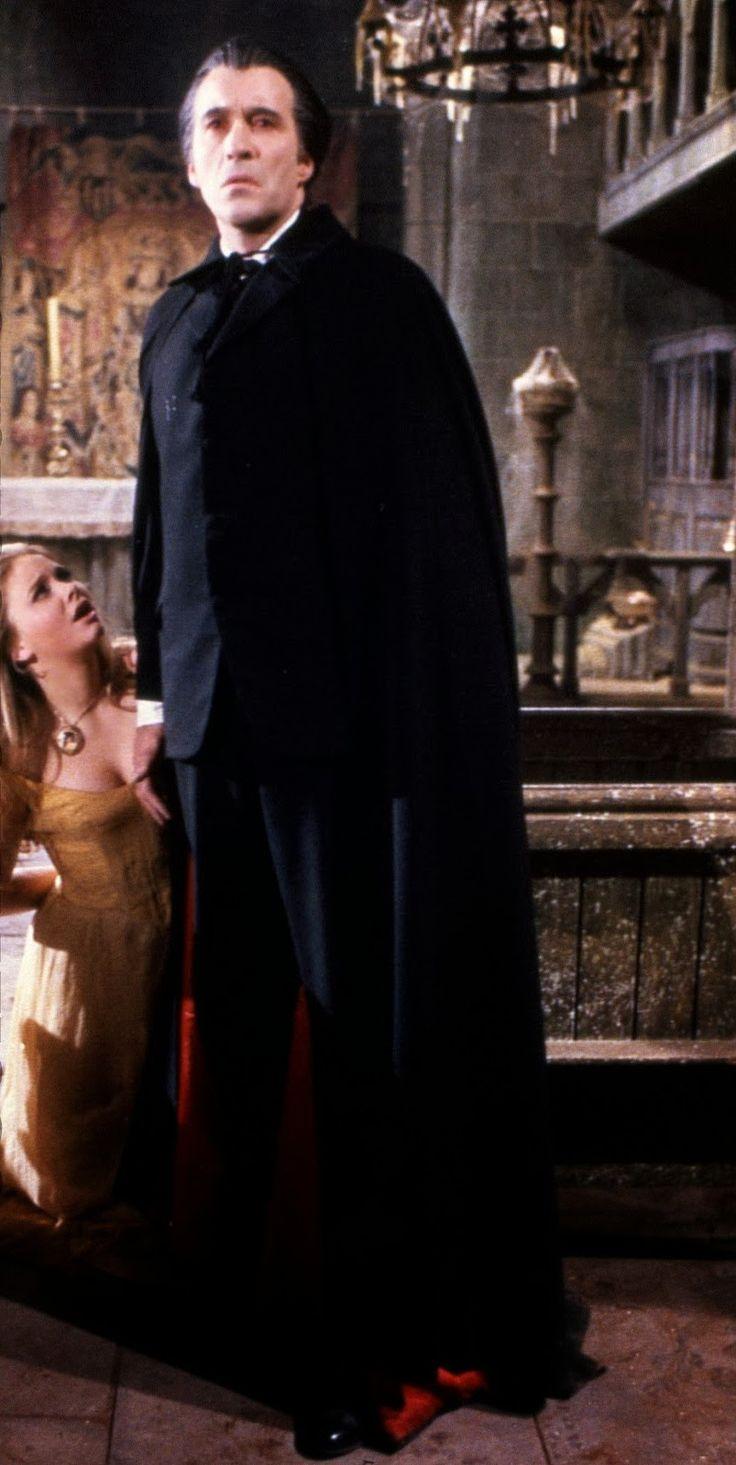 """Christopher Lee (Dracula) and Linda Hayden (Alice Hargood) in """"Taste the Blood of Dracula"""" (1970)"""