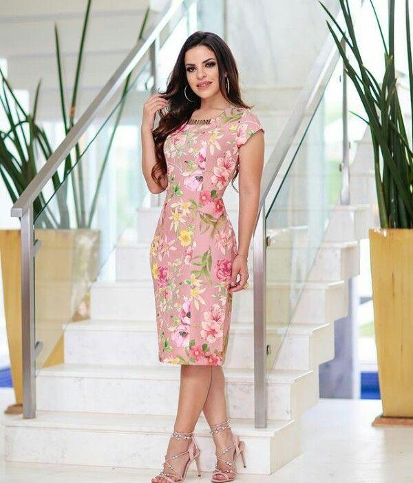 b6086806525e68 Vestidos do dia a dia   vestidos em 2019   Vestidos estampados ...