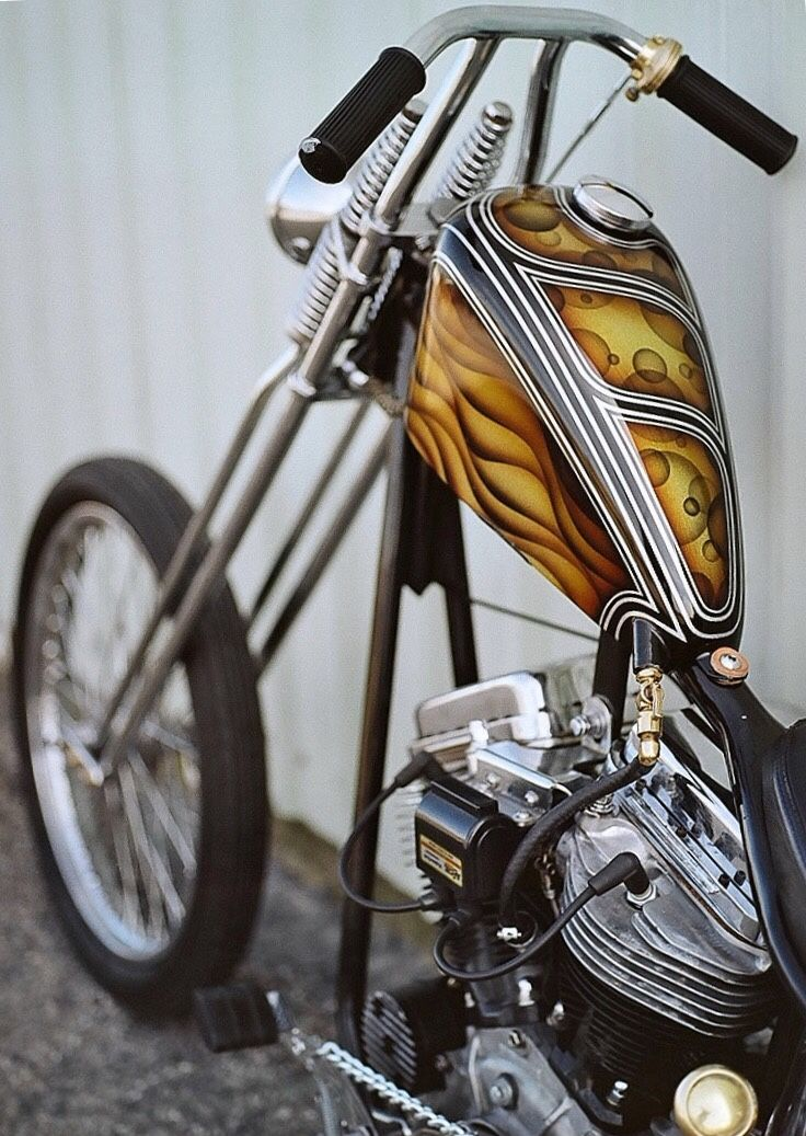 Clean tall chop with a cool custom paint job.
