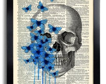 Day of the Dead Flower Mexican Skull Gothic Skull by PrintsVariete