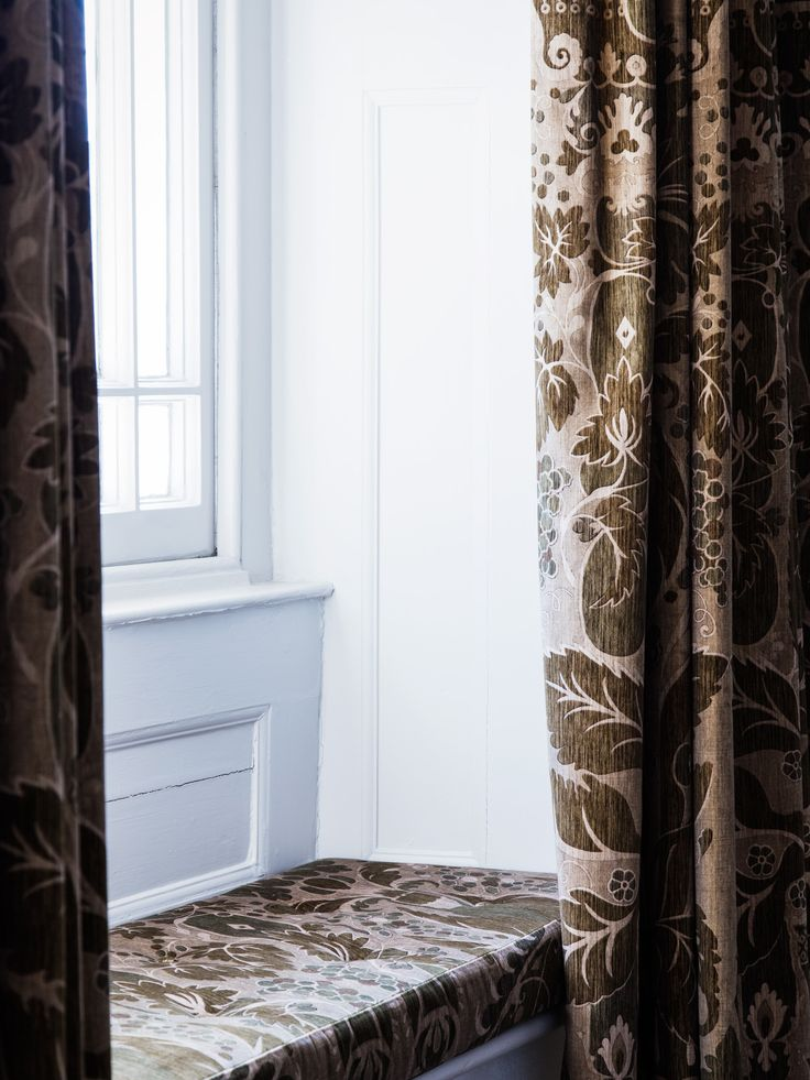 Robert Kime Fabric Used For Curtains And Window Seat