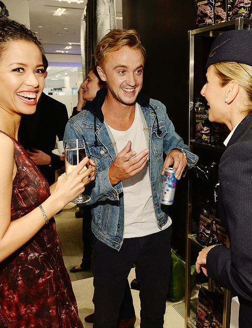 Gugu Mbatha-Raw Boyfriend | Gugu Mbatha-Raw & Tom Felton attend the Variety Studio at Holt Renfrew ...