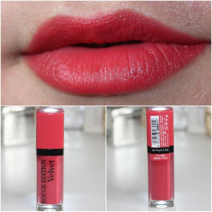 Bourjois Rouge Edition Velvet Lipstick in 04 Peach Club