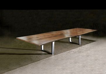 Jeffrey Greene furniture, slab dining tables, wood slab dining tables, claro wal -dining-tables