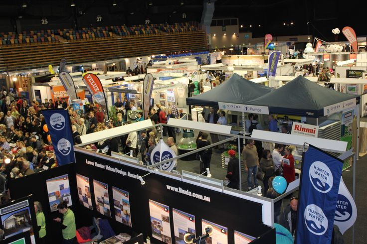 Exhibitors at the 2013 Newcastle Home Show.