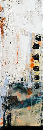 "solitary man - 8"" x 24"" | #canvas by Linda Virio"