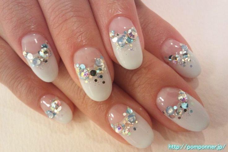 シンデレラ風ブライダルネイル -- Cinderella Bridal Nail