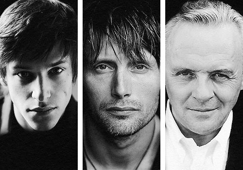 Gaspard Ulliel (Hannibal Rising) Mads Mikkelsen (NBC Hannibal) Anthony Hopkins (Silence of the Lambs, Hannibal, The Red Dragon)