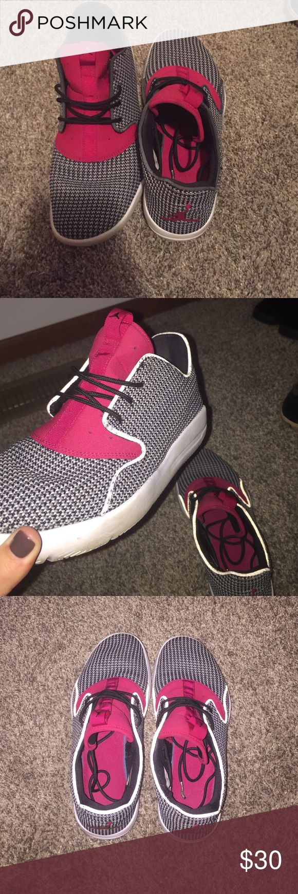 Jordan Eclipse Pink and black Loved Jordan Eclipse! Size 7.5Y! I'm usually an 8-8.5 in woman's! Jordan Shoes Athletic Shoes