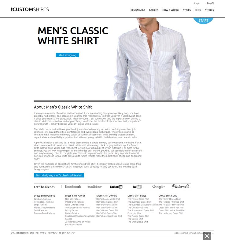 We offers white dress shirt for men tailored to your body fitting. Best online store for customizing mens white dress shirts within you taste and perfernce with hoem delivery.