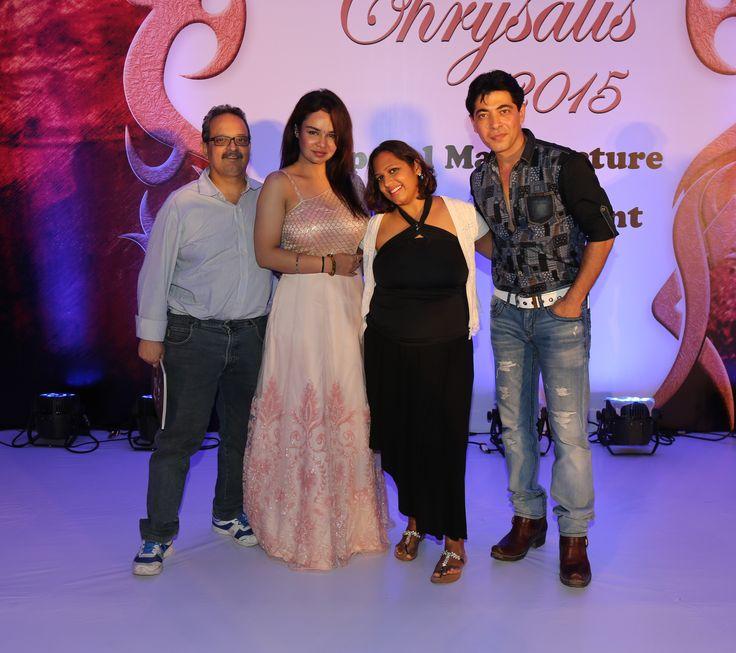 Dr.Mukul Dabholkar, Kavitta Verma, Sasha Dabholkar and Dillzan Wadia at SNDT-AMD's Chrysalis fashion show