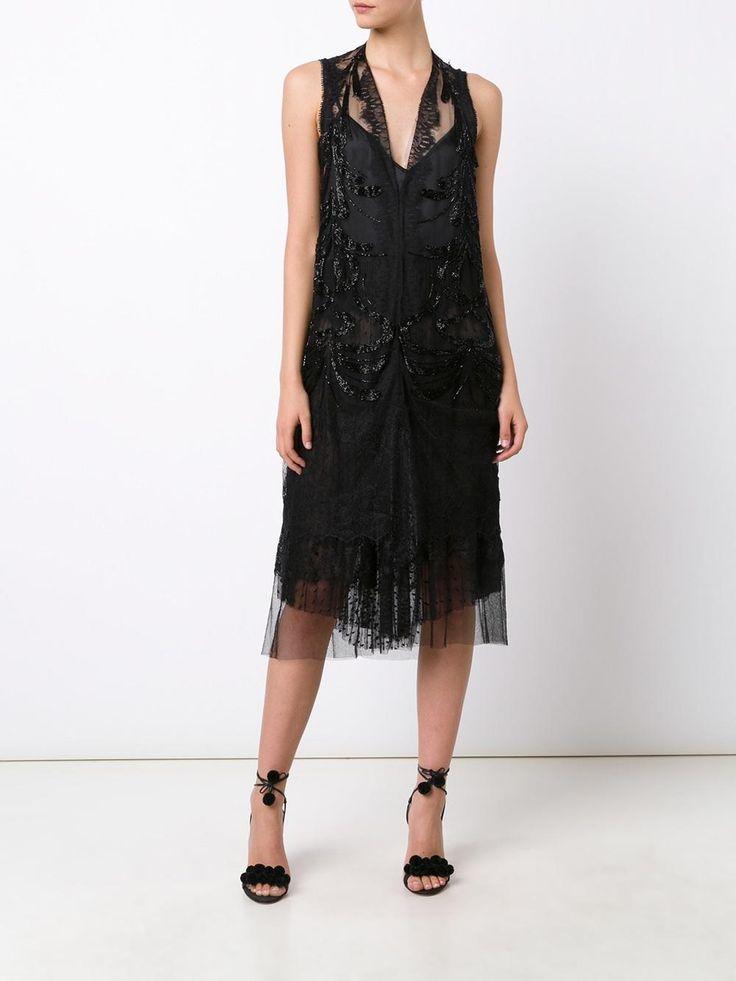 Loyd/Ford прозрачное декорированное платье