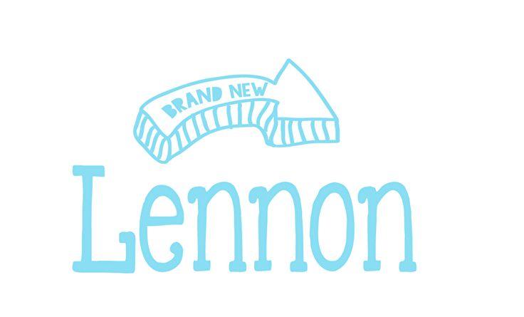 Geboortesticker type Lennon