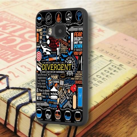 Divergent Quote Collage Art HTC One M9 Case
