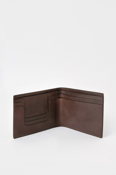 Isaac Reina Billfold Wallet Brown
