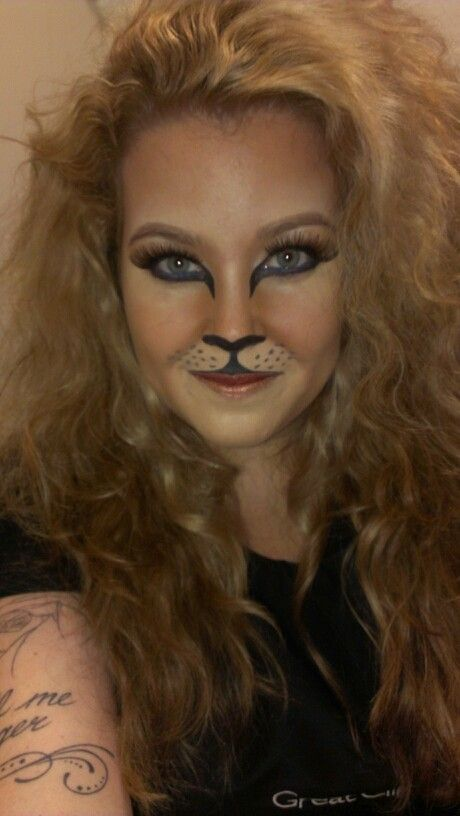 Halloween makeup. Lioness/ sexy lion ...shes purrrfect