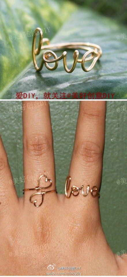 DIY jewellery wire rings