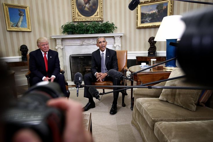 U.S. President Barack Obama speaks while meeting with President-elect Donald Trump following a meeting in the Oval Office Nov. 10, 2016 in Washington, DC. (Photo by Win McNamee/Getty)
