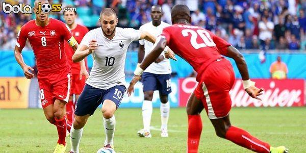 Hasil Pertandingan Swiss vs Prancis 2-5 (Piala Dunia 2014). Prancis berpesta lima gol berbalas dua atas Swiss pada matchday kedua Grup E Piala Dunia 2014 di Itaipava Arena Fonte Nova, Jumat atau Sabtu (21/6/2014) dini hari WIB.