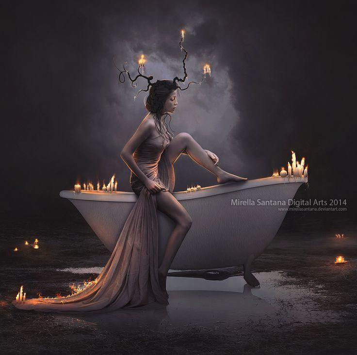 Bath Candle by MirellaSantana.deviantart.com on @deviantART