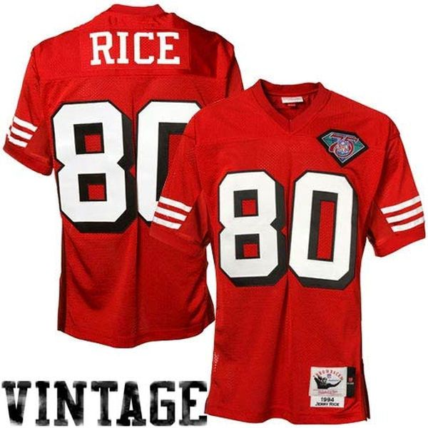 Jerry Rice San Francisco 49ers Mitchell & Ness Authentic Throwback Jersey – Scarlet - $274.99