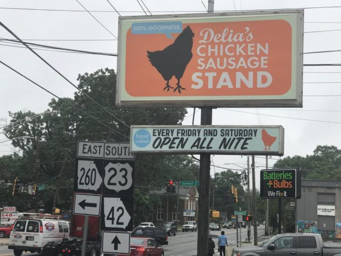 Delia's Chicken Sausage Stand in Atlanta has been wooing the capital city for years.