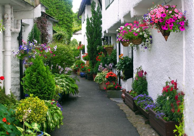 Hanging, boxed and potted.: Outdoor Garden Ideas, Beautiful English, Beautiful Places, Beautiful Gardens, Beautiful England, Lake District, Northern England