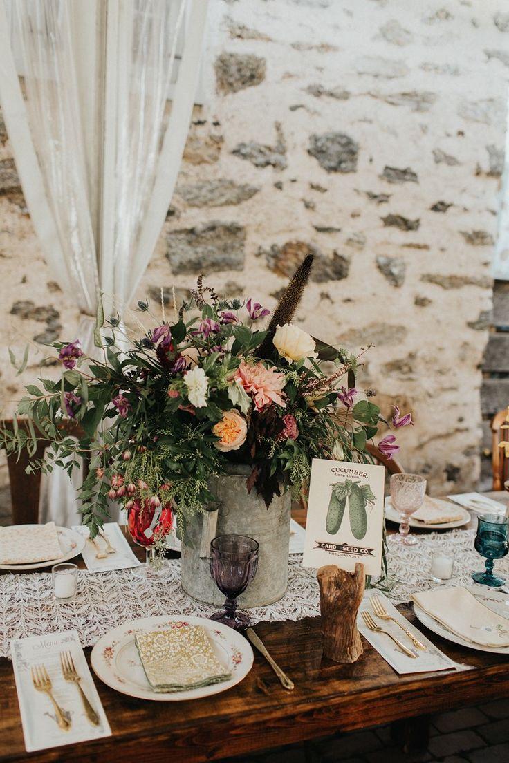 Watering Can Wedding Centerpiece